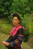 Ritratto di una donna di Hmong nella zona di Lai Chau immagine stock