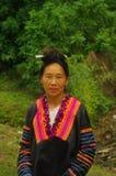 Ritratto di una donna di Hmong nella zona di Lai Chau fotografia stock libera da diritti