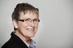 Ritratto di una donna di mezza età Fotografie Stock Libere da Diritti