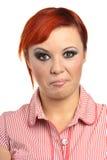 Ritratto di una donna facente smorfie Fotografia Stock