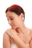 Ritratto di una donna graziosa. fotografia stock libera da diritti