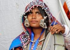 Ritratto di una donna indiana di banjara Immagini Stock Libere da Diritti