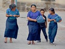Ritratto di una donna maya Fotografie Stock