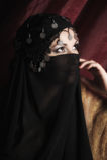 Ritratto di una donna nello stile orientale Fotografie Stock Libere da Diritti