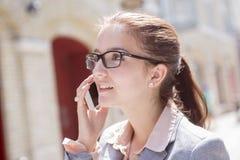 Ritratto di una donna sorridente di affari Fotografie Stock Libere da Diritti