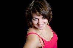 Ritratto di una donna in studio Fotografia Stock Libera da Diritti