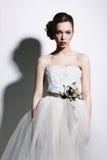 Ritratto di una donna vestita come sposa Immagine Stock Libera da Diritti