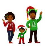 Ritratto di una famiglia di Natale felice insieme Immagine Stock