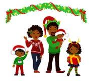 Ritratto di una famiglia di Natale felice insieme Fotografie Stock