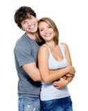 Ritratto di una famiglia sorridente felice fotografie stock libere da diritti