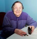 Ritratto di una nonna anziana Fotografia Stock