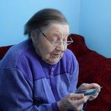 Ritratto di una nonna anziana Immagine Stock Libera da Diritti
