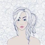Ritratto di una ragazza illustrazione vettoriale