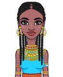 Ritratto di una ragazza africana Fotografia Stock Libera da Diritti