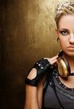 Ritratto di una ragazza attraente di punk del vapore fotografie stock