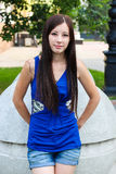 Ritratto di una ragazza attraente per la copertura di rivista Immagini Stock