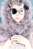 Ritratto di una ragazza con le piume Fotografia Stock Libera da Diritti