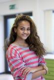 Ritratto di una ragazza del banco Fotografia Stock