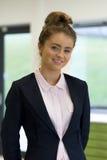 Ritratto di una ragazza del banco Immagini Stock