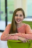 Ritratto di una ragazza del banco Fotografie Stock