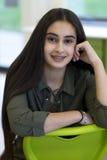 Ritratto di una ragazza del banco Fotografie Stock Libere da Diritti