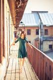 Ritratto di una ragazza di dancing Fotografia Stock Libera da Diritti