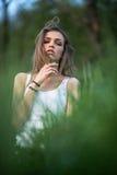 Ritratto di una ragazza italiana Fotografie Stock Libere da Diritti