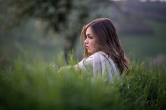 Ritratto di una ragazza italiana Fotografia Stock
