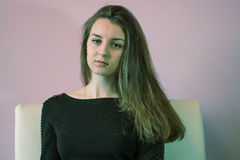 Ritratto di una ragazza nello studio Fotografia Stock