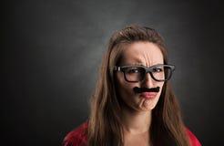 Ritratto di una ragazza offensiva Immagini Stock