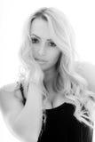 Ritratto di una ragazza premurosa seria Fotografie Stock
