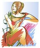 Ritratto di una ragazza red-haired Immagini Stock