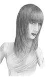 Ritratto di una ragazza sconosciuta Fotografia Stock Libera da Diritti