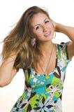 Ritratto di una ragazza sorridente Fotografie Stock Libere da Diritti