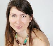 Ritratto di una ragazza sorridente, vista del primo piano Immagine Stock Libera da Diritti