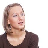 Ritratto di una ragazza in un maglione Fotografie Stock