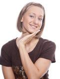 Ritratto di una ragazza in un maglione Immagine Stock