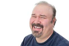 Ritratto di una risata matura divertente dell'uomo Fotografia Stock Libera da Diritti