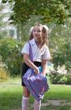 Ritratto di una scolara graziosa Fotografie Stock Libere da Diritti