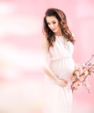 Ritratto di una signora incinta allegra Immagini Stock