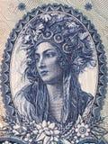Ritratto di una signora ungherese in un costume nazionale Fotografie Stock