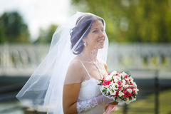 Ritratto di una sposa immagine stock