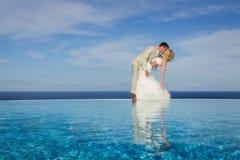 Ritratto di una sposa e di uno sposo Immagine Stock Libera da Diritti