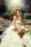 Ritratto di una sposa splendida Fotografie Stock Libere da Diritti