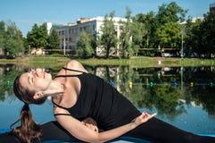 Ritratto di una yoga-ragazza Fotografia Stock Libera da Diritti