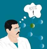 Ritratto di uno scienziato illustrazione di stock