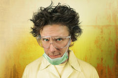 Ritratto di uno scienziato pazzo Immagine Stock