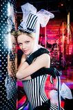 Ritratto di uno showgirl sexy Fotografia Stock Libera da Diritti
