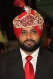 Ritratto di uno sposo del Punjabi Immagine Stock Libera da Diritti