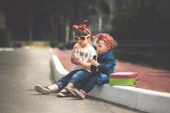 Ritratto divertente delle ragazze fotografie stock